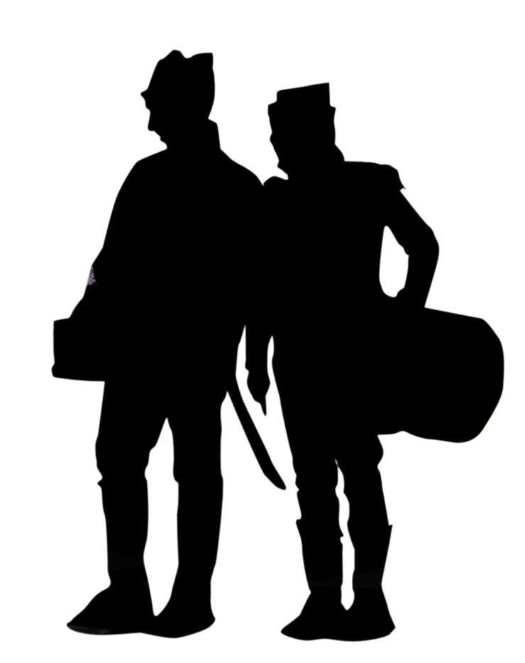 Silhouette of Two Drummers